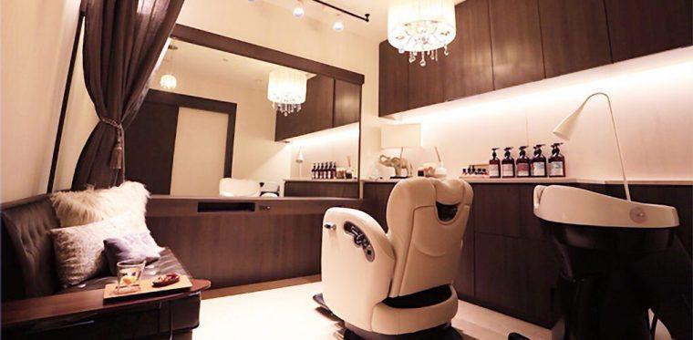 渋谷の美容室の個室
